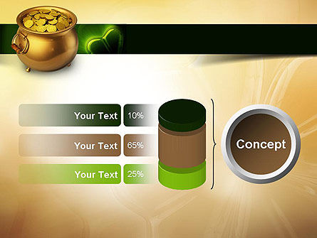 Pot of Gold Coins PowerPoint Template Slide 11