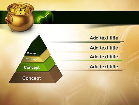 Pot of Gold Coins PowerPoint Template Slide 12