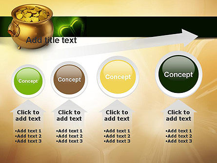 Pot of Gold Coins PowerPoint Template Slide 13