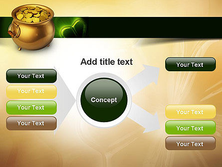 Pot of Gold Coins PowerPoint Template Slide 14