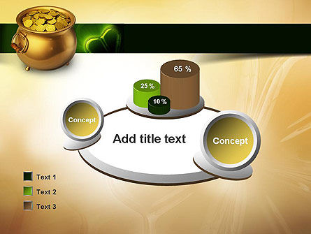 Pot of Gold Coins PowerPoint Template Slide 16