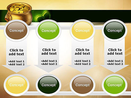 Pot of Gold Coins PowerPoint Template Slide 18