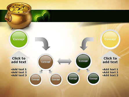 Pot of Gold Coins PowerPoint Template Slide 19