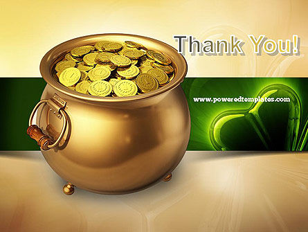 Pot of Gold Coins PowerPoint Template Slide 20