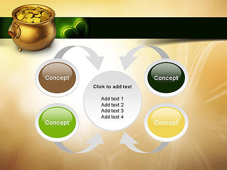 Pot of Gold Coins PowerPoint Template Slide 6