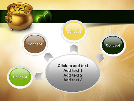 Pot of Gold Coins PowerPoint Template Slide 7