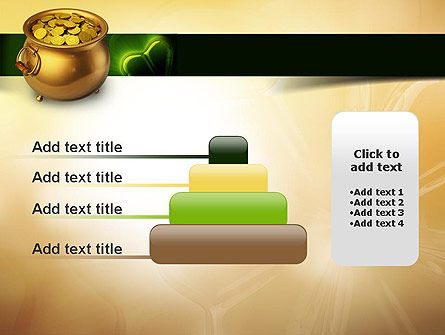 Pot of Gold Coins PowerPoint Template Slide 8