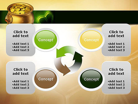Pot of Gold Coins PowerPoint Template Slide 9