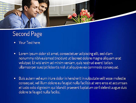 Couple Looking at Laptop Computer PowerPoint Template, Slide 2, 11060, People — PoweredTemplate.com