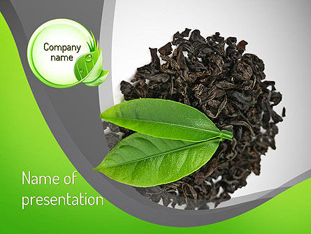 Food & Beverage: Tea Leaves PowerPoint Template #11065