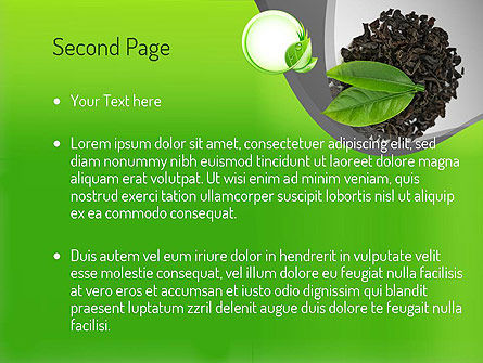 Tea Leaves PowerPoint Template, Slide 2, 11065, Food & Beverage — PoweredTemplate.com