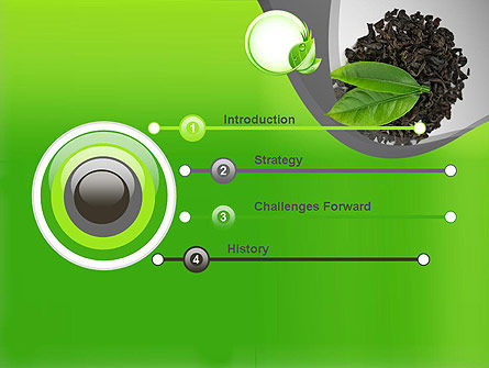 Tea Leaves PowerPoint Template, Slide 3, 11065, Food & Beverage — PoweredTemplate.com