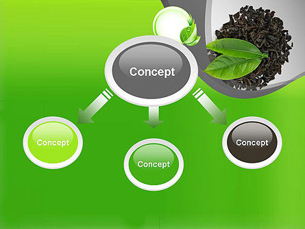 Tea Leaves PowerPoint Template, Slide 4, 11065, Food & Beverage — PoweredTemplate.com