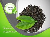 Food & Beverage: Tea Leaves PowerPoint Template #11065