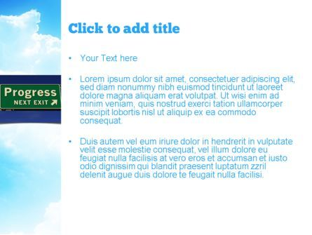 Progress Freeway Sign PowerPoint Template, Slide 3, 11066, Consulting — PoweredTemplate.com