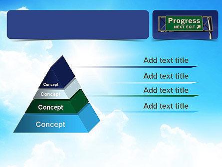 Progress Freeway Sign PowerPoint Template Slide 12
