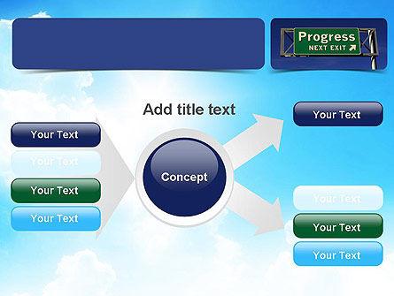 Progress Freeway Sign PowerPoint Template Slide 14