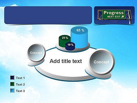 Progress Freeway Sign PowerPoint Template Slide 16