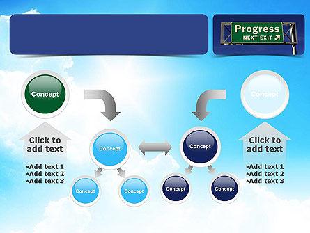 Progress Freeway Sign PowerPoint Template Slide 19