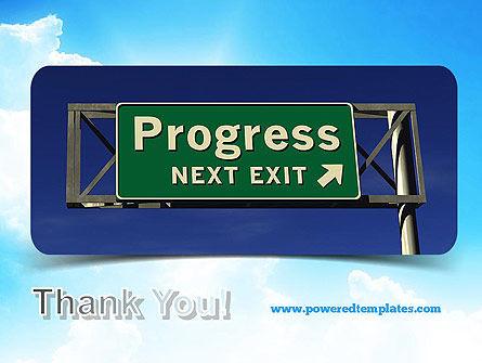 Progress Freeway Sign PowerPoint Template Slide 20