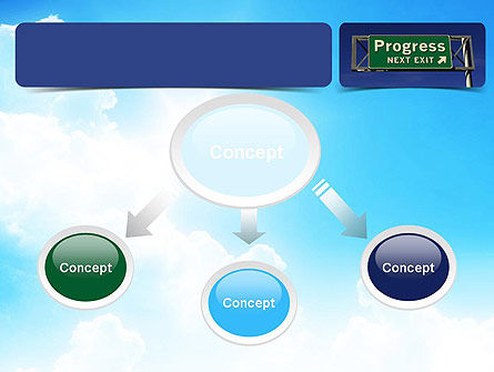Progress Freeway Sign PowerPoint Template, Slide 4, 11066, Consulting — PoweredTemplate.com
