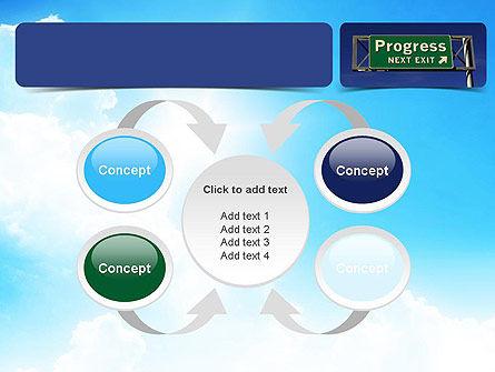 Progress Freeway Sign PowerPoint Template Slide 6
