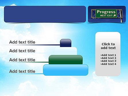 Progress Freeway Sign PowerPoint Template Slide 8