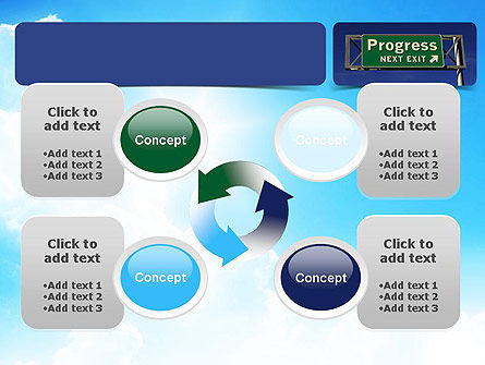 Progress Freeway Sign PowerPoint Template Slide 9