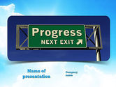 Consulting: Progress Freeway Sign PowerPoint Template #11066