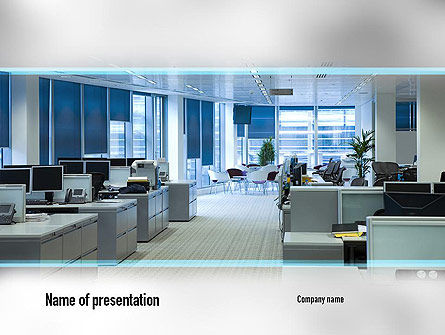 Clean Office PowerPoint Template, 11069, Careers/Industry — PoweredTemplate.com