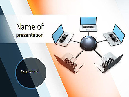 Telecommunication: Network and Communication PowerPoint Template #11072