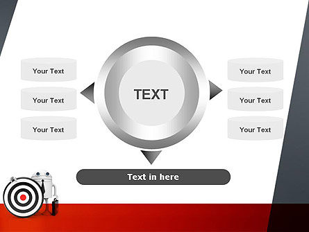 Business Android with Target PowerPoint Template Slide 12