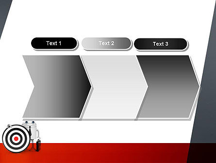 Business Android with Target PowerPoint Template Slide 16