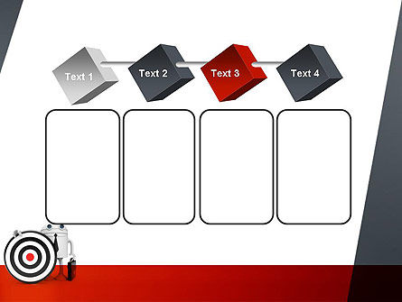 Business Android with Target PowerPoint Template Slide 18