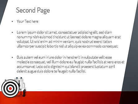 Business Android with Target PowerPoint Template Slide 2