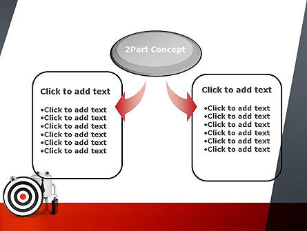 Business Android with Target PowerPoint Template Slide 4