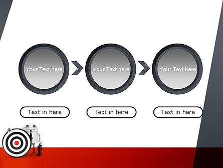 Business Android with Target PowerPoint Template Slide 5