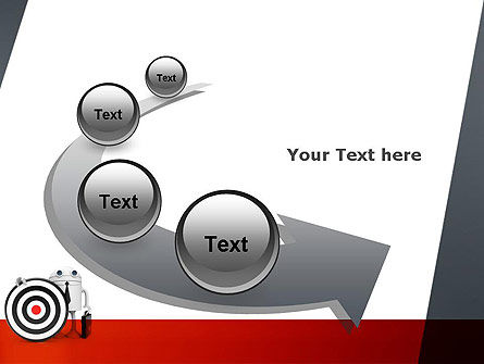 Business Android with Target PowerPoint Template Slide 6