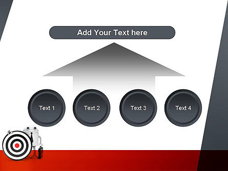 Business Android with Target PowerPoint Template Slide 8
