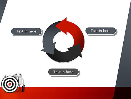 Business Android with Target PowerPoint Template Slide 9