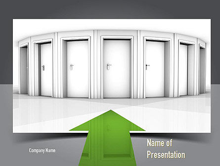 Education & Training: Choosing The Right Way PowerPoint Template #11074