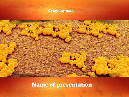 Medical: Staphylococcus Infection PowerPoint Template #11075