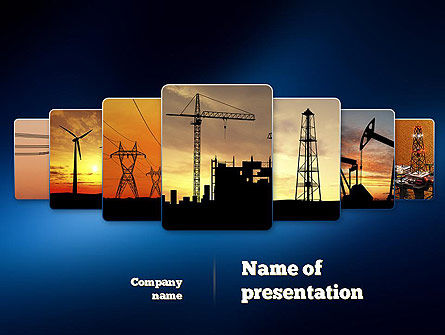 Industries PowerPoint Template, 11076, Utilities/Industrial — PoweredTemplate.com