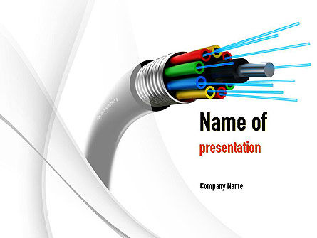 Fiber Optic Cable PowerPoint Template, 11077, Technology and Science — PoweredTemplate.com