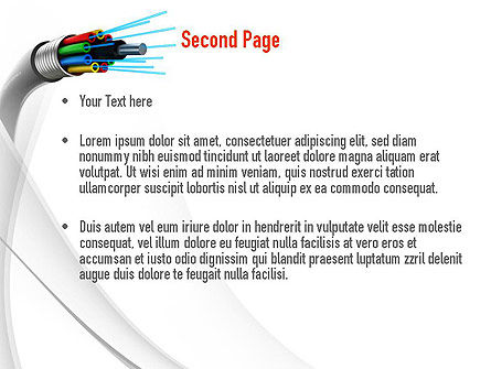 Fiber Optic Cable PowerPoint Template, Slide 2, 11077, Technology and Science — PoweredTemplate.com