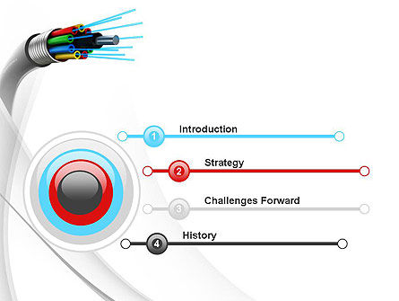 Fiber Optic Cable PowerPoint Template, Slide 3, 11077, Technology and Science — PoweredTemplate.com