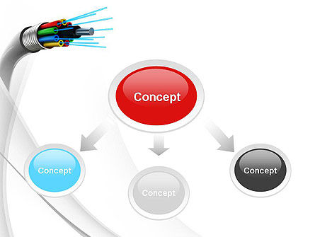 Fiber Optic Cable PowerPoint Template, Slide 4, 11077, Technology and Science — PoweredTemplate.com