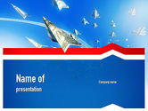 America: Force Aircraft From Dollars PowerPoint Template #11079