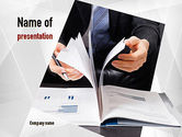 Business: Business Report PowerPoint Template #11080