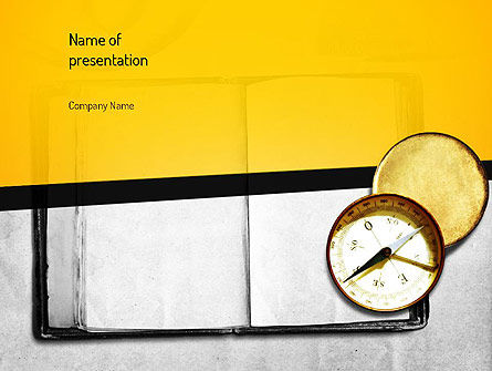 Ancient Logbook PowerPoint Template, 11085, Education & Training — PoweredTemplate.com